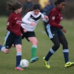 Girls football at St Clement Dane's School