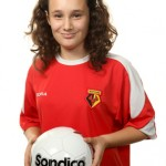 Watford girls academy football player